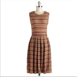 Pink martini striped dress from ModCloth